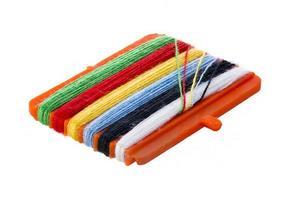 filo per cucire, da vicino