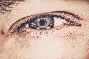 primo piano dell'occhio foto