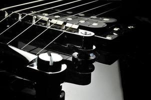 primo piano della chitarra foto