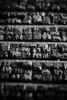 sfondo di simboli cinesi in legno foto