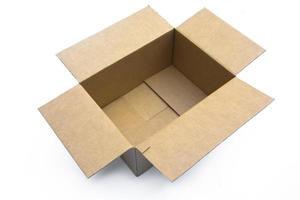 scatola di cartone aperta foto