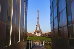 vista della torre eiffel foto