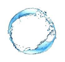 anello di spruzzi d'acqua