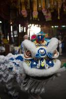 artisti del drago, saan jao joe sue gong temple, bangkok, thailandia.