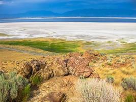 antelope island utah foto