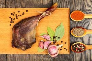 carne di anatra essiccata foto
