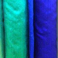 campioni di tessuto blu foto