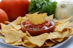 patatine e salsa foto