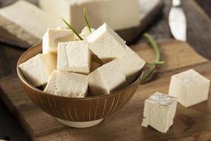 tofu di soia crudo biologico foto