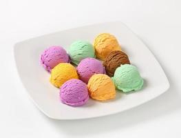 gelato assortito foto