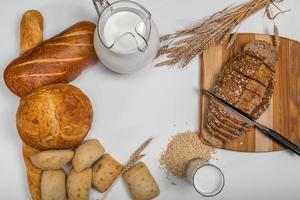 mockup di sfondo di pane foto