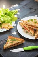 foto di sandwich al formaggio