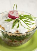 insalata di ravanello con cipolle verdi foto