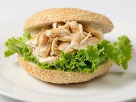 sandwich di maiale tirato foto