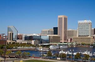 paesaggio urbano del porto interno di Baltimora foto