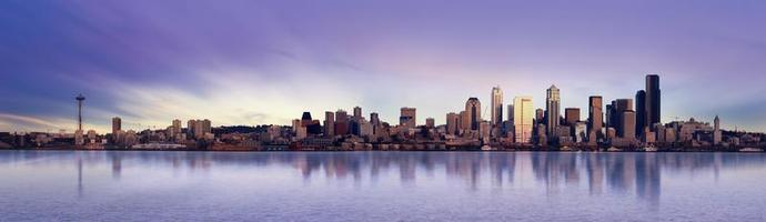 panorama di Seattle foto