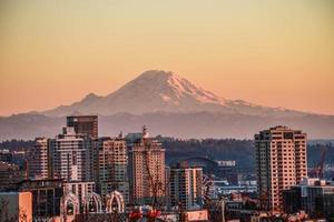 Seattle al tramonto foto
