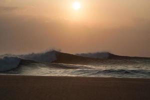 grande tramonto della conduttura foto