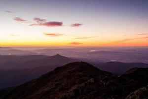 Vista del tramonto di mt buller foto