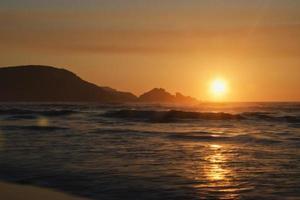 tramonto sulla costa atlantica foto