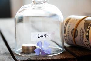 concetto di banca. foto