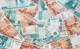 rubli. banconote russe, soldi, sfondo foto