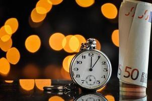 tempo e denaro, concetto di business foto