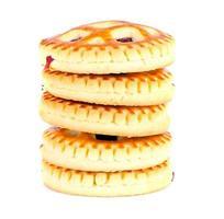 biscotti con marmellata di ciliegie foto
