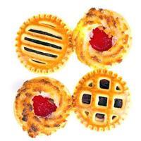 biscotti al cocco con marmellata di ciliegie foto