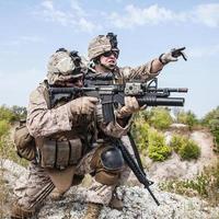 guerra in montagna foto