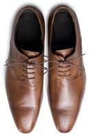 scarpe marrone chiaro dall'alto foto