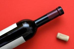 Bottiglia di vino foto