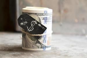 rotolo di dollari foto