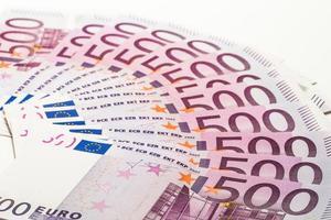 contanti, banconote in euro 500 foto