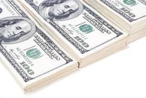 primo piano isolato soldi della banconota del dollaro foto
