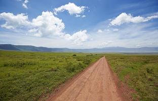 percorso nel cratere di Ngorongoro. foto