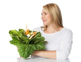 donna caucasica in buona salute foto