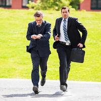 uomini d'affari di fretta. foto