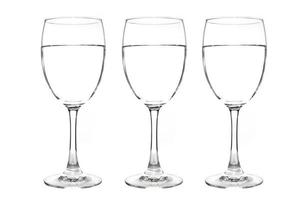 bicchiere di vino isolato foto