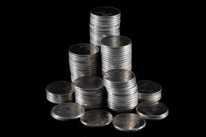pila di monete foto