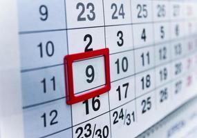 calendario foto