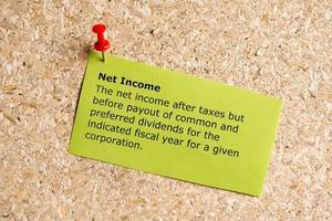 reddito netto foto