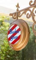 segno del negozio di barbiere foto