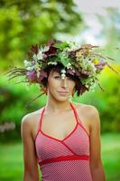 ragazza di fiore foto