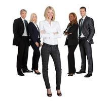 donna d'affari fiduciosa