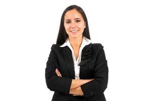 donna d'affari isolata foto