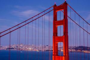 primo piano del ponte del cancello dorato, San Francisco foto