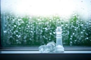 concetto di business di scacchi, leader e successo
