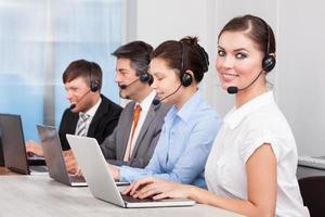operatore di call center foto