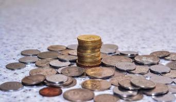 gruppo di display monete. foto